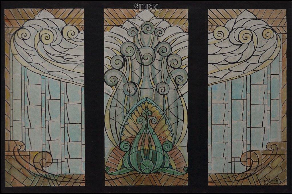 Album ontwerp glas in lood Gerrit